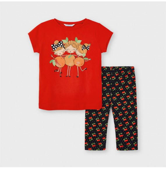 Conjunto leggings estampado niña Mayoral 3741