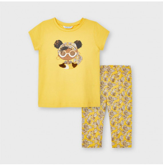 Conjunto leggings estampado Ecofriends niña Mayoral 3741